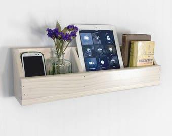 Wood Wall Pocket U2022 Cell Phone Organizer U2022 Side Table Alternative U2022 Space  Saving Organizer U2022