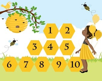 Montessori Number Magnets - Montessori Math - Number Practice - Number Match - Learning - Education - Home-school - Bumblebee