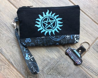 Supernatural Winchester Wristlet Clutch Cosmetic Bag