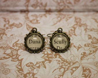 Dana Scully Earrings ~ The X-Files ~ The Truth Is Out There ~ I Want To Believe ~