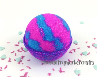 Cotton Candy Bath Bombs - Vegan Bath Bomb Natural Bath Fizzy