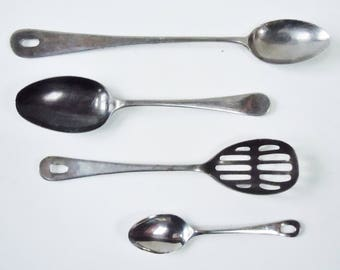 Sheffield Stainless / English Serving Spoons from Fritz and Bremley / Very Old Stainless / Bozwel USA