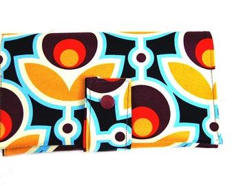 "Checkbook in imitation and fabric ""Primrose Graphic"""