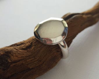 Dauntless Faceted Recycled Ring