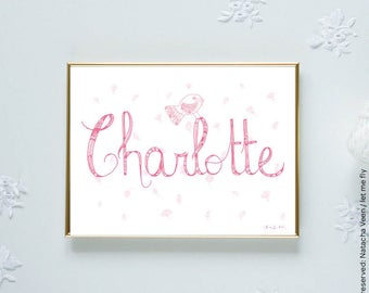 Baby, lettering, room child illustration, decoration, baby room accessory, setting, drawing, gift, birthday gift, love