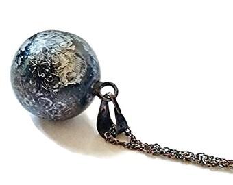 Black harmony ball - chime necklace - bali ball - Angel Caller - pagan pendant - chime pendant - harmony pendant - Chime Ball