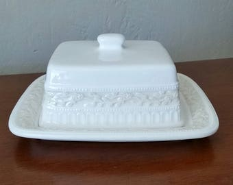 Vintage Butter Dish With Lid, Vintage Covered Butter Dish, Signature, Lourdes, Covered Butter Dish, Cheese Dish.