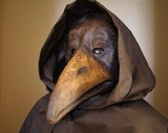 Plague doctor's mask Raven mask Back Crow mask Masquerade mask Bird mask Paper mache mask