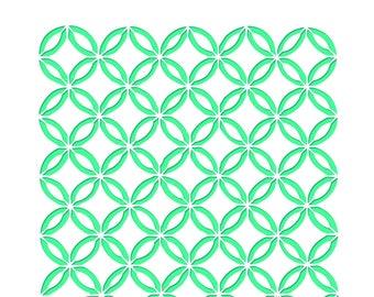 Stencil Oriental - Size 15 cm x 15 cm square