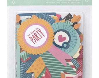 Embellishments - set of 75 shapes - cardstock birthday