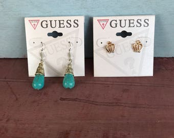 Guess Earrings Howlite Turquoise