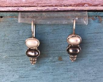 Sterling Silver Tahitian Pearl Earrings