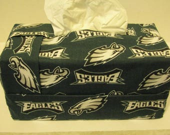 Rectangular fabric tissue box cover - Eagles
