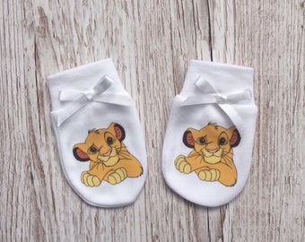 Lion king 'simba'baby  Scratch Mitts