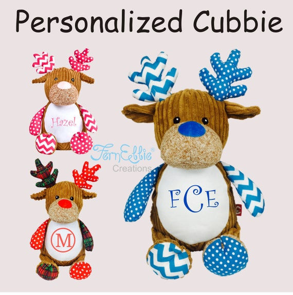 Personalized Cubbies, Stuffed Animal Gift, Birth Announcement, Monogrammed Gift, Christmas Gift, Personalized Teddy Bear* Plush Toys*