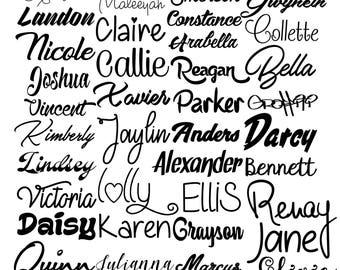 Name Sticker Etsy - Customized vinyl decals