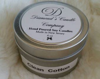 Clean Cotton Scented Soy Candle