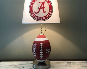 Alabama CrimsonTide football Lamp. Ncaa sports team.