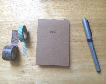 Etc handstamped small pocket notebook