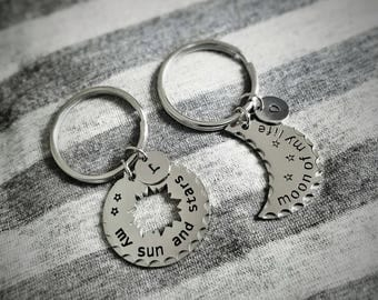 Game of Thrones Keychain, My Sun And My Stars, Moon Of My Life, Song of ice and fire, GOT Inspired, Couples jewelry