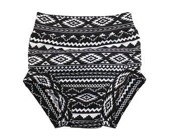 Tribal Bummies - Baby Bloomers - Girls Shorts - Boys Shorts - Baby Shorts - Toddler Shorts - Black and White Tribal Shorts - Black Bloomers