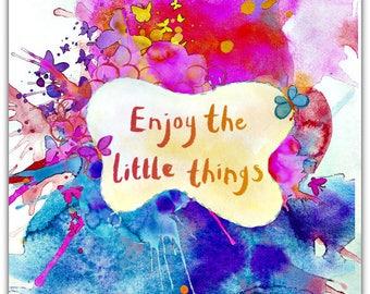 Little Things 21cm x 15cm greeting card