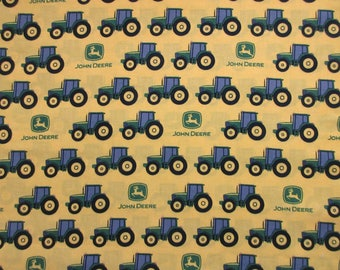 John Deere Fabric - Tractor Stripe 22259- Spring Creative Products - Quilters Cotton -  See Options