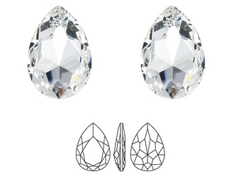 Swarovski 4327 40x27mm pearshaped crystal.  Price is for 1 stone