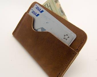Horween® Chromexcel Front Pocket Wallet - Natural - Slim Wallet - Minimalist Wallet