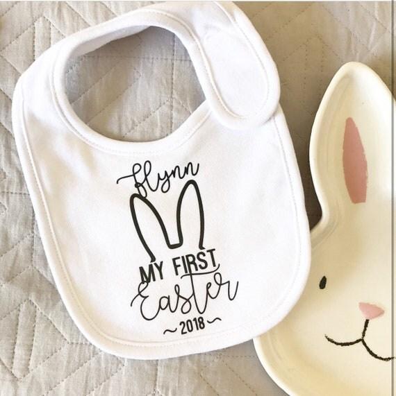 EASTER BABY BIB - First Easter Bib - Easter Bib