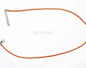 4 links in Orange Leather 45 Cm - neck to pendant