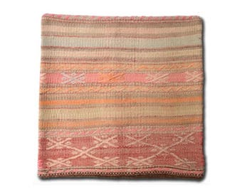 Handwoven kilim pillow cover / Decorative pillows / Bohemian cushion Cover / Ethnic pillow cases / Handmade / Vintage / Morrocan / 45x45 / M