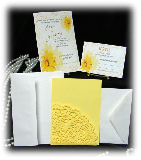 "The Erin ""WEDDING INVITATIONS PLUS"" See Price List Inside"