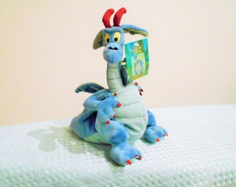 """Warner Brothers Beanbag Plush """"Devon & Cornwall"""" The 2 Headed Dragon From """"The Quest For Camelot""""/New With Tags/11 Inches Tall, Very Plush"""
