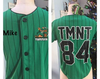 TMNT Boy's Baseball Jersey Shirt Top Teenage Mutant Ninja Turtles - Personalized