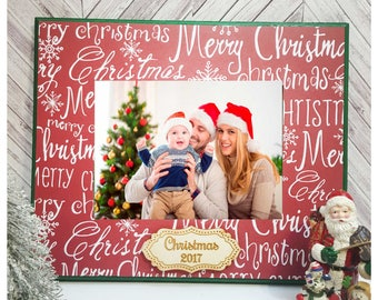Santa is coming to town-Christmas Frames-Christmas Decorations- custom picture frame-- gift for kid- christmas 2017- christmas gift