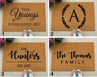 Welcome Mat - Housewarming Gift - Closing Gift - Custom Doormat - Personalized Welcome Mat - Unique Gift - Wedding Gift - Closing Gift
