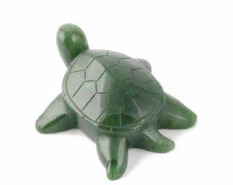 Canadian Jade Turtle Figurine (available in multiple sizes)