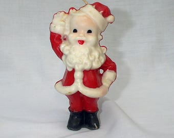 """Gurley W & F Manufacturing Company 5"""" Santa Christmas Candle"""