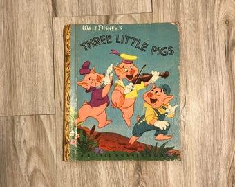 1948 Little Golden Book / Three Little Pigs
