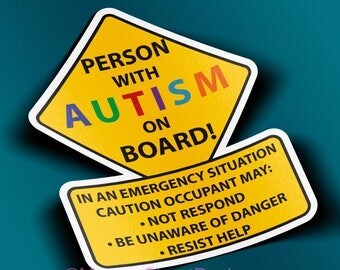 Person With Autism Car Truck Decal Sticker