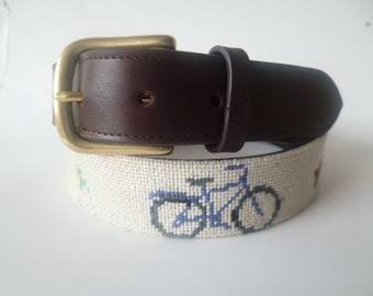 custom needlepoint belt orders available