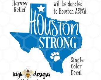 Houston Strong Decal Etsy - Vinyl decals houston tx