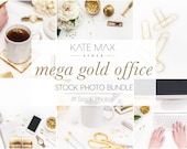 Gold Styled Stock Office Bundle / Styled Stock Photos / 81 KateMaxStock Office Branding Images for Your Business