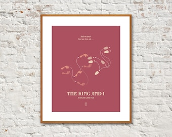 THE KING and I - Minimalist Posters, The King and I Poster, Movie Posters, Walter Lang, Yul Brynner, Deborah Kerr, Alternative Poster