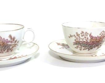 Bone China Tea Set,Made in England,Floral Design Tea Cup & Saucer Set,Replacement China