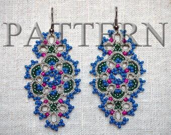 Tatting Pattern PDF – Earrings – Lace - Jewelry