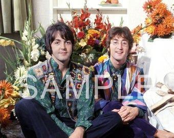 Fabric Art Quilt Block - The Beatles - Lennon & McCartney BEAT295- FREE Shipping
