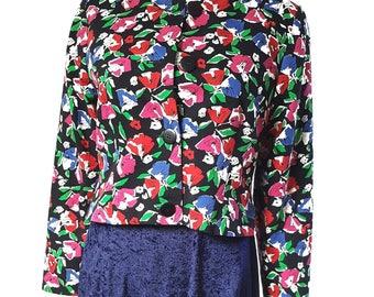 Vintage Jaeger Cropped Floral Jacket