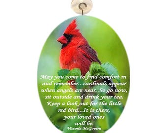 Large Glass Suncatcher -Cardinal